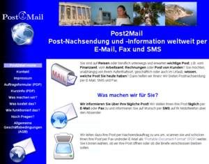 Webseite Post2Mail